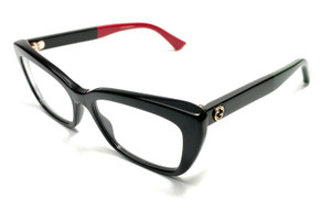 Gucci GG0165O 003 Black Women's Authentic Eyeglasses Frame 51mm