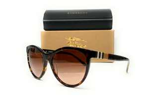 Burberry BE4199 300213 Havana Brown Gradient Lens Women Cat Eye Sunglasses 58mmO