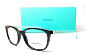 TIFFANY TF2109HB 8001 Black Demo Lens Women's Eyeglasses 53 mm