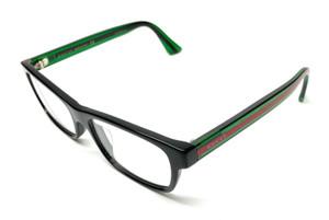 Gucci GG0006OA 002 Black Demo Lens Men's Rectangle Acetate Eyeglasses 55mm