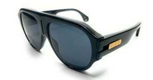GUCCI GG0665S 001 Black Rectangle Men's Authentic Sunglasses 58 mm