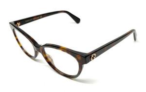 GUCCI GG0373O 002 Havana Oval Women's Eyeglasses 52 mm