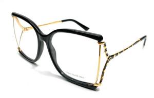 GUCCI GG0592O 001 Square Black Black Gold Demo Lens 60 mm Women's Eyeglasses