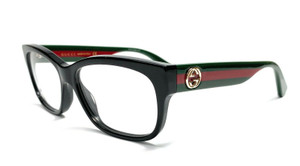 Gucci GG0278O 011 Black Demo Lens Women Eyeglasses 55mm