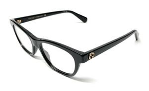 GUCCI GG0372O 005 Black Oval Women's Eyeglasses 48 mm
