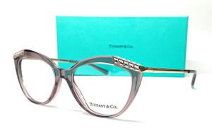 TIFFANY TF2198B 8314 Transparent Pink Women's Eyeglasses 53 mm