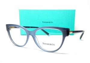 TIFFANY TF2196 8307 Blue Oval Round Women's Eyeglasses 52 mm