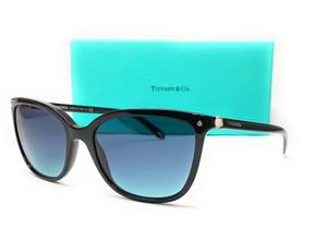 Tiffany TF4105HB 80019S Black Square Women's Sunglasses 55 mm
