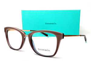Tiffany TF2186 8277 Brown Women's Authentic Rectangle Eyeglasses 52 mm