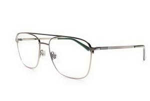 GUCCI GG0833O 003 Ruthenium Square Rectangle Men's Eyeglasses 55 mm