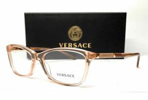 VERSACE VE3186 5215 Transparent Brown Demo Lens Women's Eyeglasses 54 mm