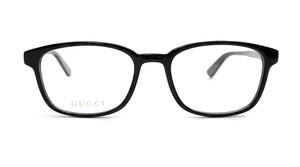 GUCCI GG0867OA 001 Black Square Rectangle Women's Eyeglasses 54 mm