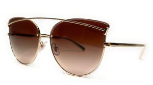 TIFFANY TF3064 60213B Pale Gold Brown Cat Eye Women's Sunglasses 61 mm