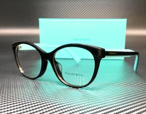 TIFFANY TF2188F 8001 Black Round Cat Eye Women's Eyeglasses 53 mm