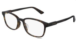GUCCI GG0867OA 002 Havana Square Rectangle Women's Eyeglasses 54 mm