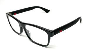 Gucci Men's Eyeglasses GG0176OA 001 Black Full Rim Optical Frame 56mm