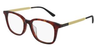 GUCCI GG0831OA 002 Havana Rectangle Women's Eyeglasses 52 mm