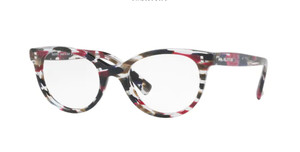 VALENTINO VA3009 5039 Striped Pink Oval Women's Eyeglasses 52 mm