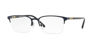 BURBERRY BE1323 1261 Matte Blue Rectangle Men's 54 mm Eyeglasses