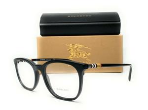 Burberry BE2266 3464 Matte Black Demo Lens Men's Square Eyeglasses 54mm