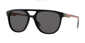 BURBERRY BE4302 300187 Black Square Men's Sunglasses 56 mm