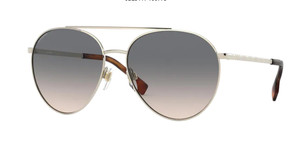 BURBERRY BE3115 1109G9 Pale Gold Pilot Women's 59 mm Sunglasses