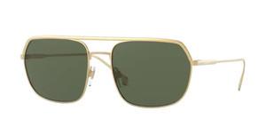 BURBERRY BE3117 105271 Gold Aviator Men's Sunglasses 58 mm