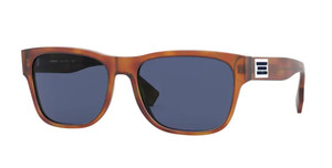 BURBERRY BE4309 386180 Light Havana Square Men's 57 mm Sunglasses