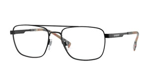 BURBERRY BE1340 1007 Matte Black Rectangle Men's 56 mm Eyeglasses