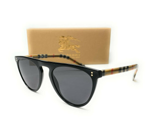 Burberry BE4281 375781 Black Grey Polarized Lens Men's Sunglasses 54mm
