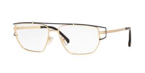 VERSACE VE1257 1459 Gold Rectangular Men's 55 mm Eyeglasses