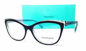 TIFFANY TF2192 8300 Blue On Transparent Demo Lens Women's Eyeglasses 52 mm
