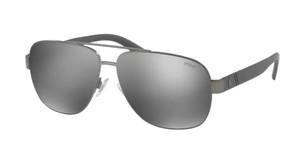 Ralph Lauren Polo PH3110 91576G Dark Gunmetal Pilot Men's 60 mm Sunglasses