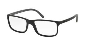 Ralph Lauren Polo PH2126 5534 Matte Black Rectangle Square Men's 53 mm Eyeglasses