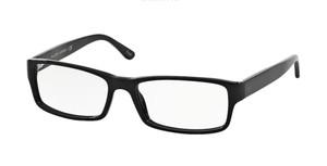 Ralph Lauren Polo PH2065 5001 Shiny Black Rectangle Men's 54 mm Eyeglasses