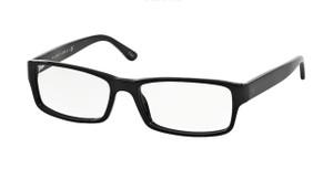 Ralph Lauren Polo PH2065 5001 Shiny Black Rectangle Men's 58 mm Eyeglasses