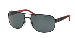 Ralph Lauren Polo PH3093 927781 Matte Black Square Men's Polarized 62 mm Sunglasses