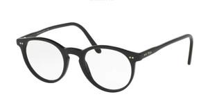 Ralph Lauren Polo PH2083 5001 Shiny Black Round Men's 48 mm Eyeglasses