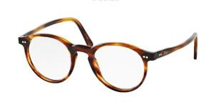 Ralph Lauren Polo PH2083 5007 Striped Havana Round Men's 50 mm Eyeglasses