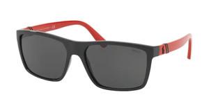 Ralph Lauren Polo PH4133 500187 Shiny Black Rectangle Men's 59 mm Sunglasses