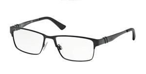 Ralph Lauren Polo PH1147 9038 Matte Black Rectangle Men's 56 mm Eyeglasses