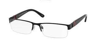 Ralph Lauren Polo PH1117 9038 Matte Black Rectangle Men's 58 mm Eyeglasses