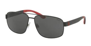 Polo Ralph Lauren PH3112 903887 Matte Black Square Men's Sunglasses 62 mm