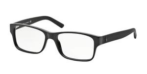 Ralph Lauren Polo PH2117 5001 Shiny Black Rectangle Men's 54 mm Eyeglasses