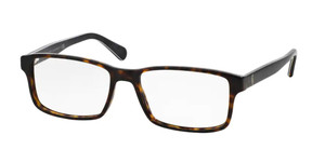 Ralph Lauren Polo PH2123 5496 Shiny Havana Rectangle Men's 56 mm Eyeglasses