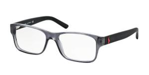 Ralph Lauren Polo PH2117 5407 Shiny Grey Rectangle Men's 54 mm Eyeglasses