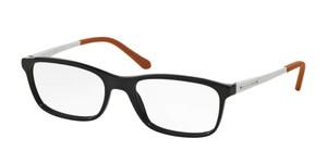 Ralph Lauren RL6134 5001 Shiny Black Rectangle Square Men's 53 mm Eyeglasses