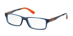Ralph Lauren Polo PH2115 5469 Shiny Blue Rectangle Men's 52 mm Eyeglasses