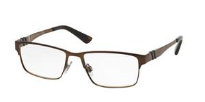 Ralph Lauren Polo PH1147 9147 Brushed Brown Rectangle Square Men's 54 mm Eyeglasses