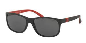 Ralph Lauren Polo PH4109 524787 Matte Black Square Rectangle Men's 59 mm Sunglasses